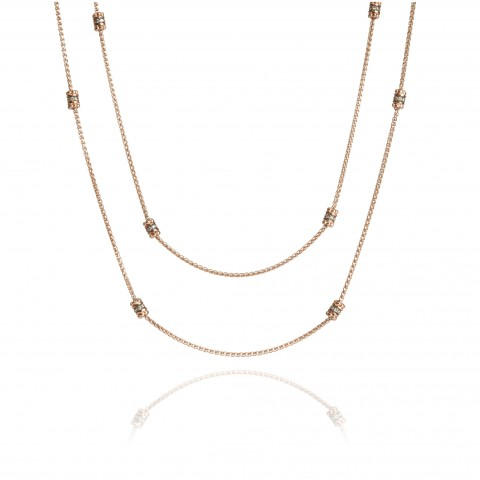 Alchemy Diamond 18ct Rose Gold Long Chain