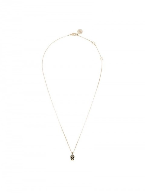 Alexander McQueen - crystal embellished skull necklace - women - Gold Plated Brass - One Size - 2076 METALLIC