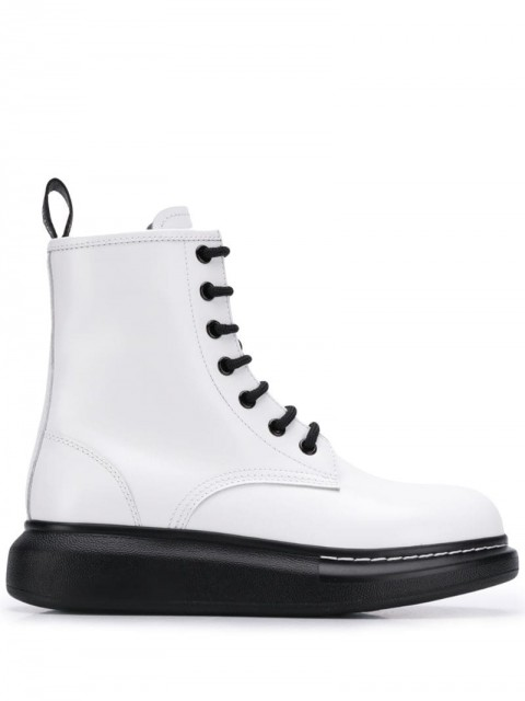 Alexander McQueen - platform ankle boots - women - Rubber/Leather - 40, 39, 37.5, 37, 36, 38.5, 41, 38, 36.5 - White