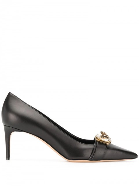 Alexander McQueen - embellished court shoes - women - Leather - 37, 38, 38.5, 39, 40, 36 - Black