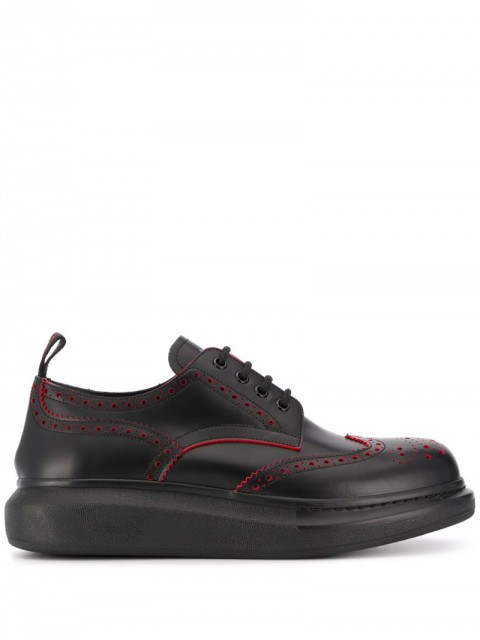 Alexander McQueen - hybrid brogue-sneakers - men - Leather/Rubber - 40, 41, 43, 44 - Black