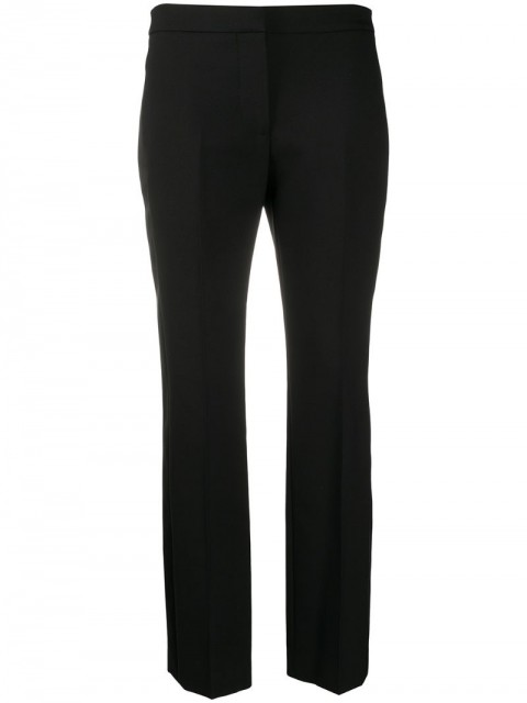 Alexander McQueen - side stripe tailored trousers - women - Silk/Polyamide/Cupro/Wool - 38, 40, 42 - Black