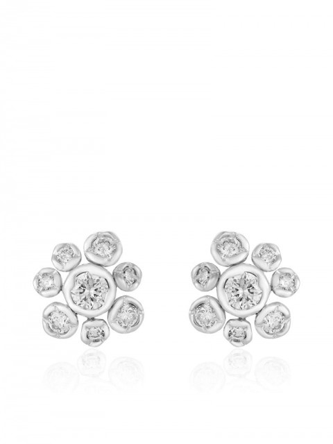Annoushka - 18kt white gold small Marguerite diamond stud earrings - women - Diamond/18kt White Gold - One Size - 18ct White Gold
