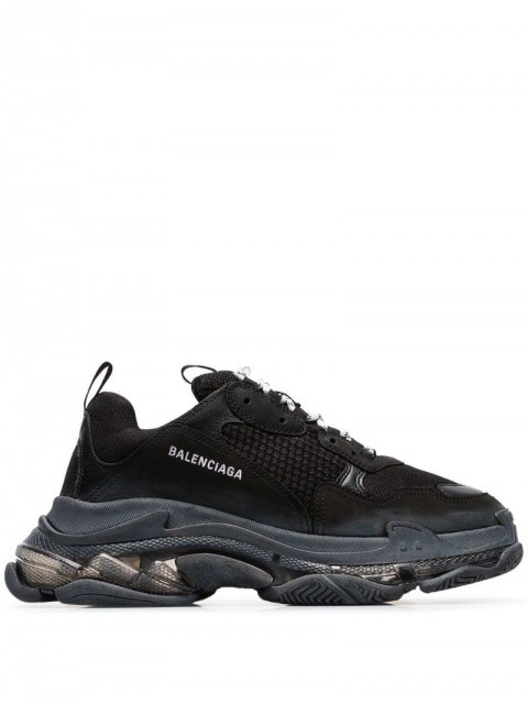 Balenciaga - Triple S clear sole sneakers - men - Polyamide/Leather/Rubber - 40 - Black