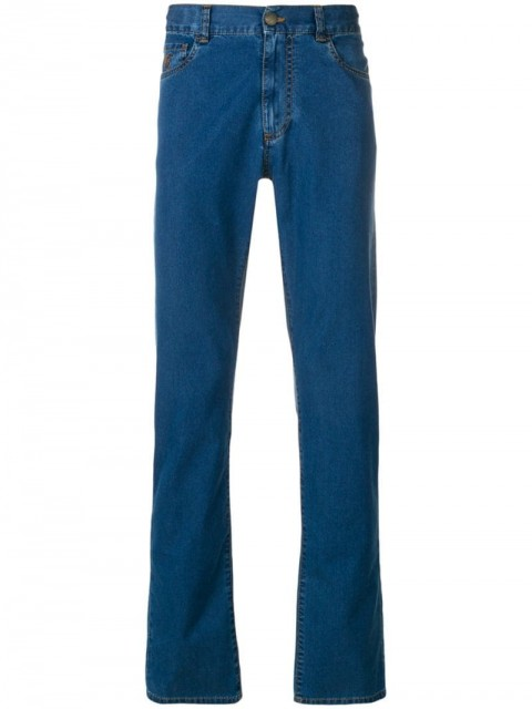 Canali - straight jeans - men - Polyester/Cotton - 50, 54 - Blue