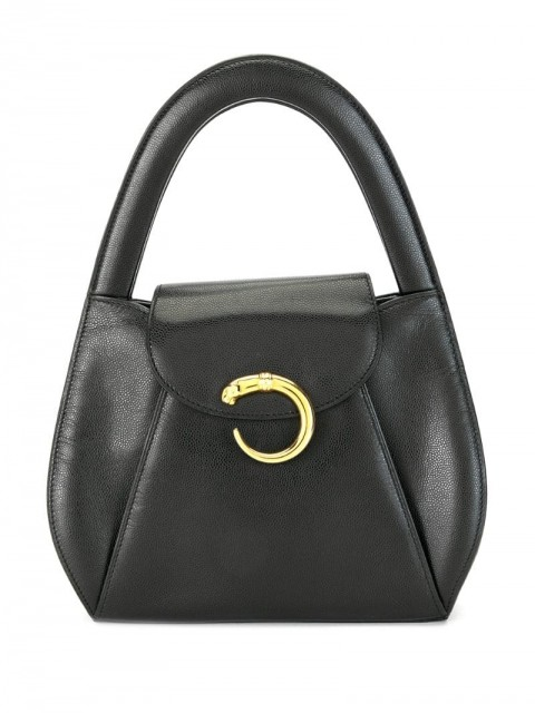 Cartier - Panther top handle bag - women - Leather - One Size - Black