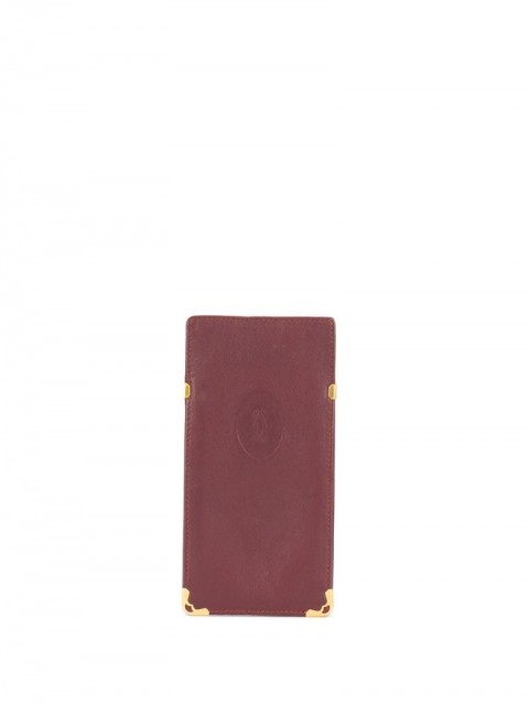 Cartier - pre-owned logo embossed case - unisex - Leather - One Size - Red