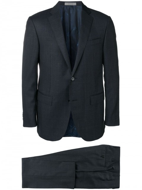 Corneliani - two-piece formal suit - men - Virgin Wool/Cupro - 52, 54 - Blue