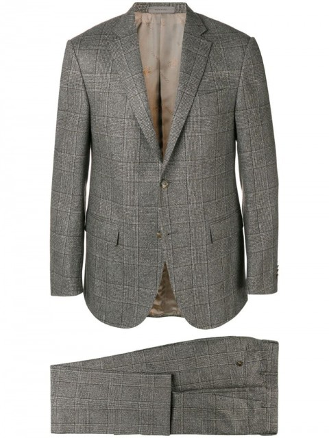 Corneliani - two-piece formal suit - men - Virgin Wool/Cupro/Silk - 52, 48 - Grey