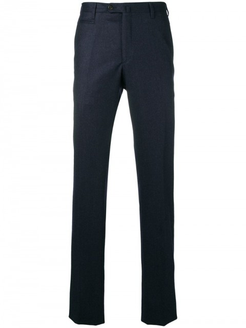 Corneliani - tailored slim-fit trousers - men - Wool - 56, 48 - Blue