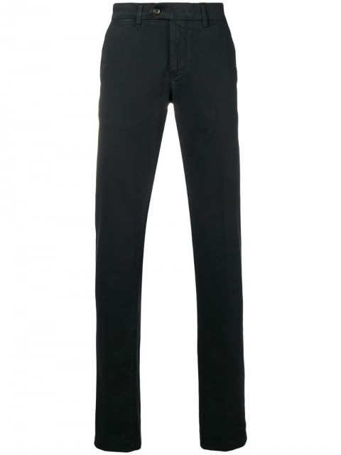 Corneliani - tailored fitted trousers - men - Cotton/Spandex/Elastane - 54 - Black