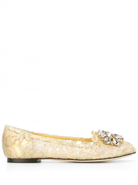 Dolce & Gabbana - 'Vally' slippers - women - Linen/Flax/Leather - 36,5 - yellow