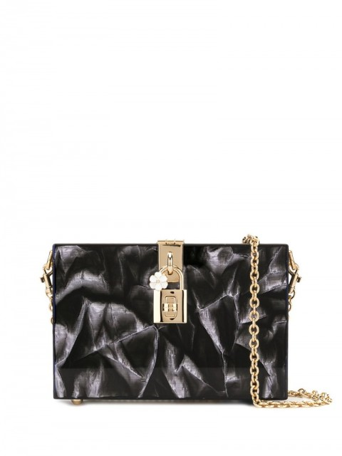 Dolce & Gabbana - Dolce Box clutch - women - Leather - One Size - Black