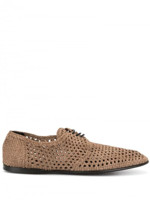 Dolce & Gabbana - perforated derbies - men - Leather - 41, 45 - Brown