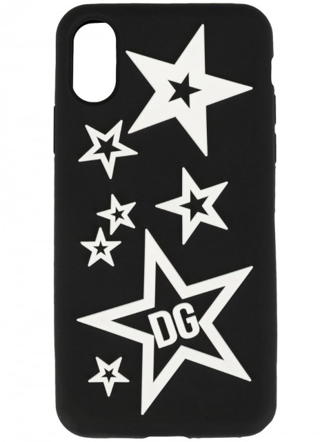 Dolce & Gabbana - mixed star iPhone X-XS cover - men - Silicone - One Size - Black