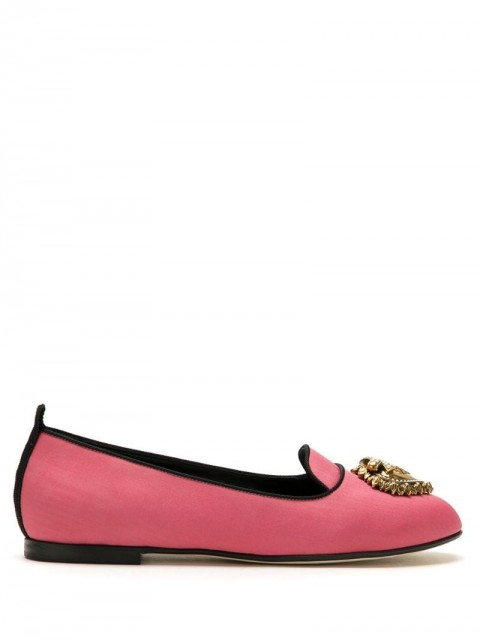 Dolce & Gabbana - Moiré Devotion ballerina shoes - women - Cotton/Viscose/Silk - 36, 36,5, 37, 37,5, 38, 38,5, 39, 40 - PINK