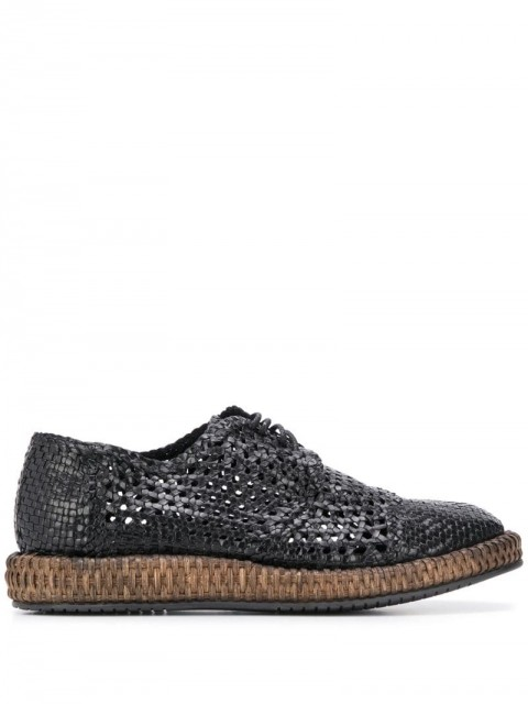 Dolce & Gabbana - braided Derby lace-up shoes - men - Leather/Rubber - 40, 41, 41,5, 42, 42,5, 43, 44, 45, 46, 39 - Black