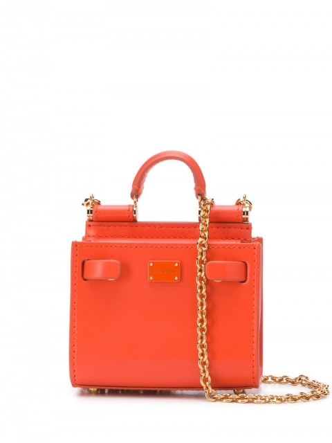 Dolce & Gabbana - micro Sicily 62 tote - women - Calf Leather - One Size - ORANGE