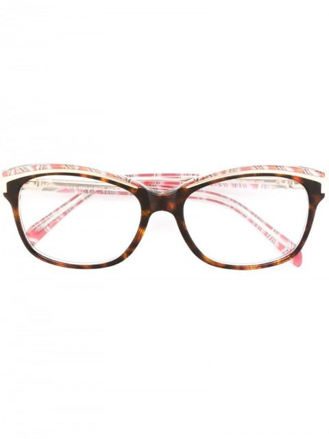 Emilio Pucci - square frame glasses - women - Acetate/Metal (Other) - One Size - Multicolour