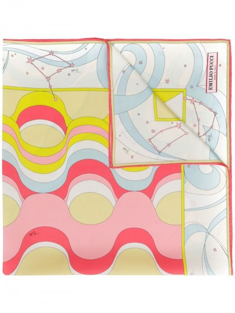 Emilio Pucci - Copacabana Print Silk-Twill Square Scarf - women - Silk - One Size - Neutrals