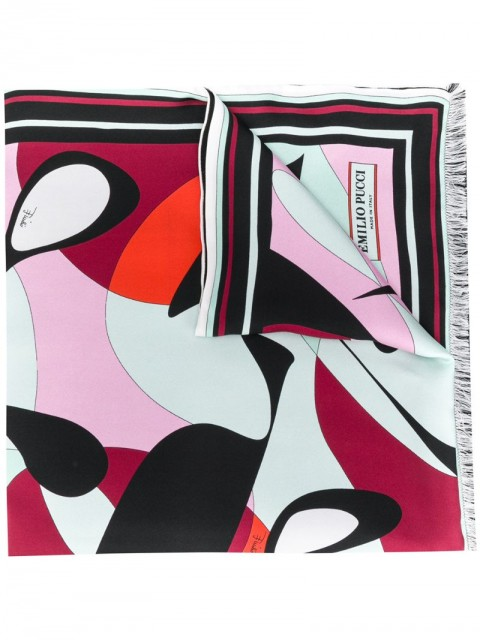 Emilio Pucci - Alex Print Rectangular Silk Scarf - women - Silk - One Size - PINK