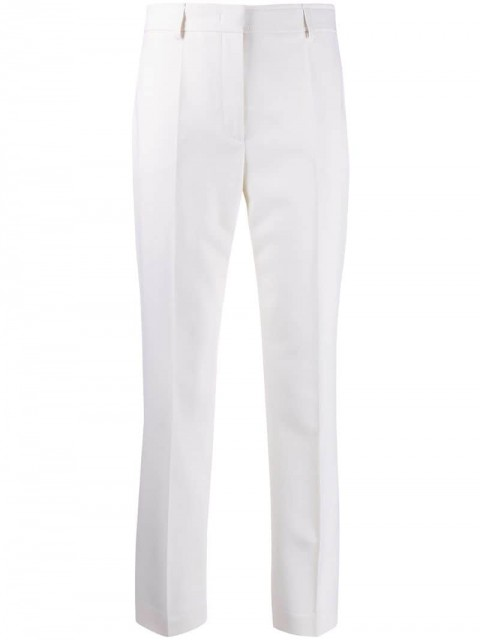 Emilio Pucci - high waisted slim trousers - women - Virgin Wool - 44, 42, 46, 38, 40 - White