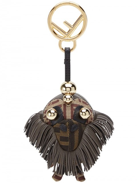 Fendi - Space monkey bag charm - women - Lamb Skin/Acrylonitrile Butadiene Styrene (ABS)/Polyurethane/Polyamide - One Size - Brown