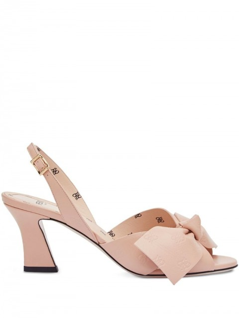 Fendi - FFreedom slingback sandals - women - Calf Leather/Leather/Lambskin - 37, 38, 39, 37,5, 38,5, 39,5, 36, 41, 40 - PINK