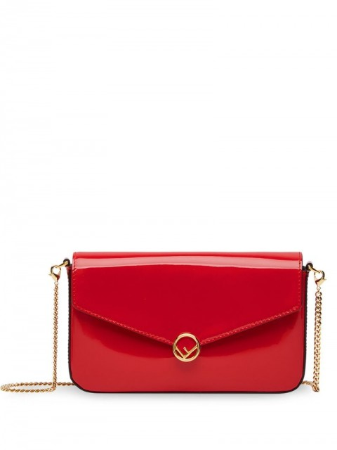 Fendi - F is Fendi wallet on chain - women - Cotton/Calf Leather/metal - One Size - Red