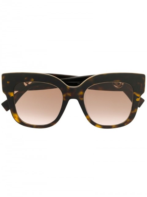 Fendi Eyewear - tortoiseshell sunglasses - women - Acetate/WAX - One Size - Brown