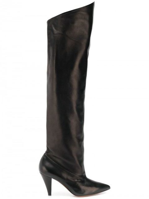 Givenchy - over the knee boots - women - Leather/Lamb Skin - 35, 36, 37, 37.5, 39, 38, 40, 41 - Black