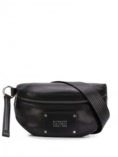 Givenchy - Tag bum bag - men - Leather/Cotton - 85, 95 - Black