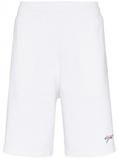Givenchy - logo embroidered track shorts - men - Cotton/Viscose - L, XL, S, M, XS - White