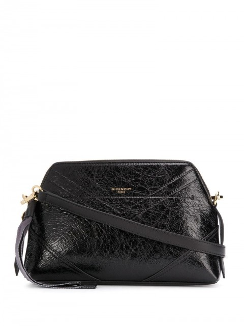 Givenchy - crinkled effect crossbody bag - women - Calf Leather - One Size - Black