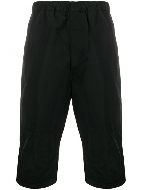 Givenchy - long stretch waist shorts - men - Cotton/Polyester - 48, 46, 50 - Black