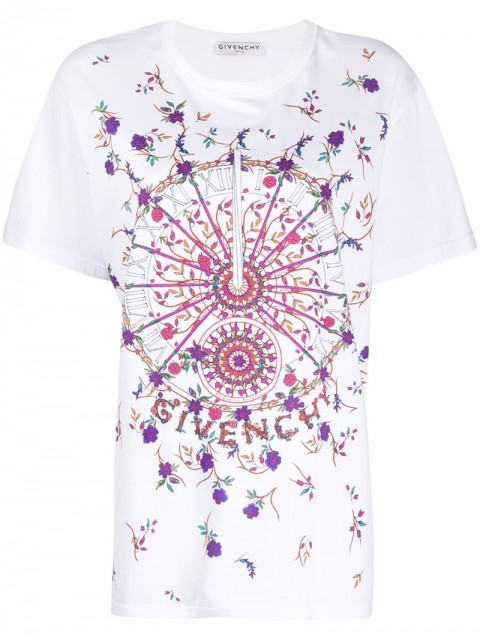 Givenchy - Sundial short-sleeve T-shirt - women - Cotton - S - White