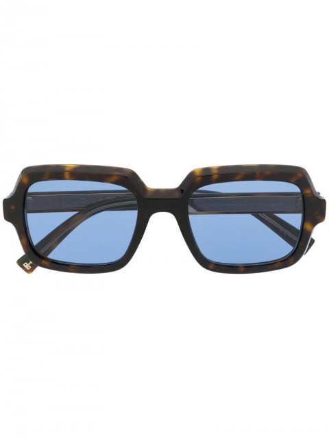 Givenchy - blue-tint square sunglasses - women - Acetate - One Size - Brown