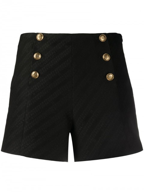 Givenchy - 4G-button Chain jacquard shorts - women - Cotton/Polyester/Viscose - 38, 40, 36, 34 - Black