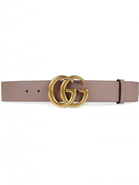 Gucci - Leather belt with Double G buckle - women - Leather/metal - 90, 75, 85, 80, 95, 70, 65 - PINK