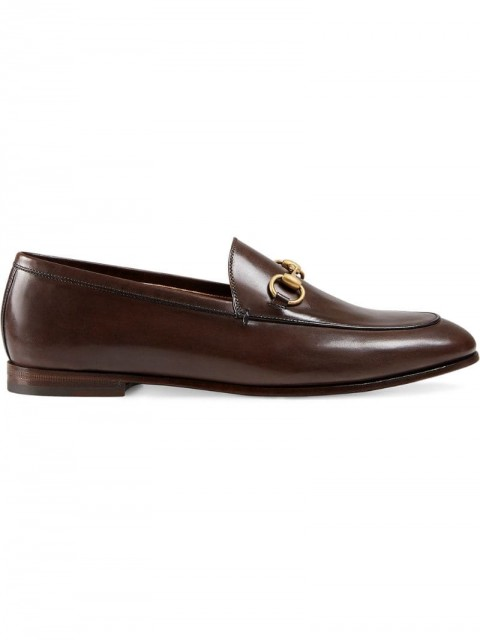 Gucci - Gucci Jordaan leather loafers - women - Leather - 41.5, 41, 36, 40.5, 39.5, 35, 35.5, 38, 37, 38.5, 37.5, 40, 39 - Brown
