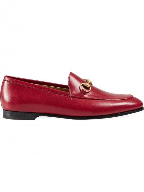 Gucci - Gucci Jordaan leather loafer - women - Leather - 36, 35, 38.5 - Red