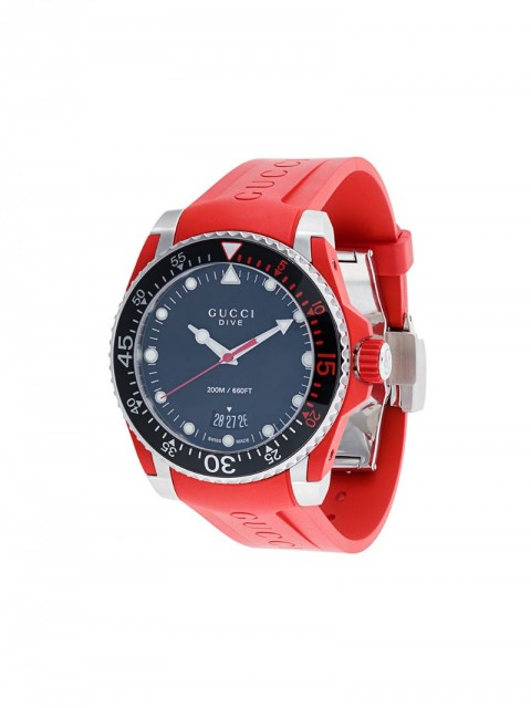 Gucci - Dive watch - men - stainless steel/silicones - One Size - Red