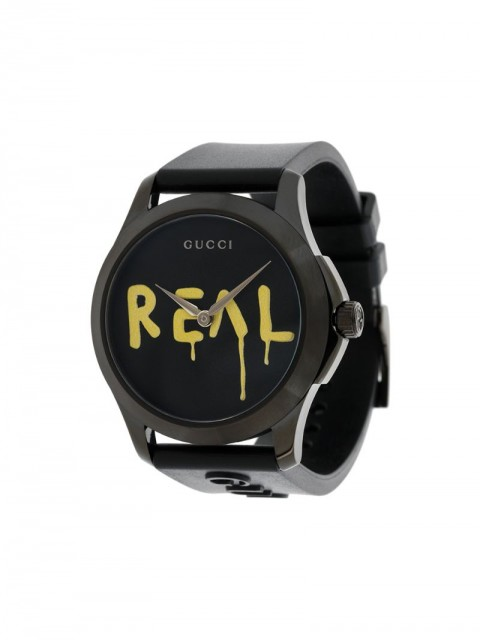 Gucci - GucciGhost G-Timeless watch - unisex - Rubber/stainless steel - One Size - Black