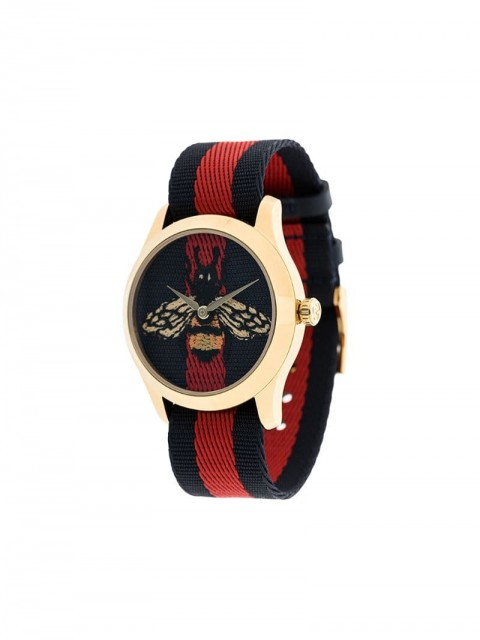 Gucci - Bee web watch - men - stainless steel/Nylon - One Size - Blue