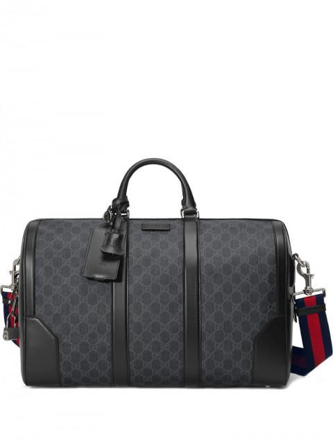 Gucci - Soft GG Supreme carry-on duffle - men - Cotton/Canvas/Leather - One Size - Black