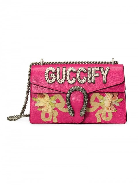 Gucci - Pink Guccify Dionysus Small shoulder bag - women - Calf Leather - One Size - PINK