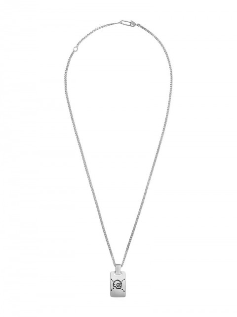 Gucci - GucciGhost pendant necklace in silver - women - Silver - One Size - Metallic