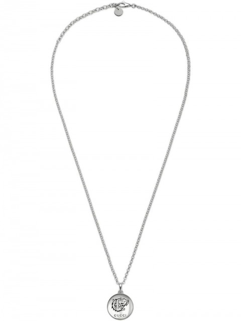 """Gucci - """"Blind For Love"""" necklace in silver - women - Sterling Silver - One Size - Metallic"""