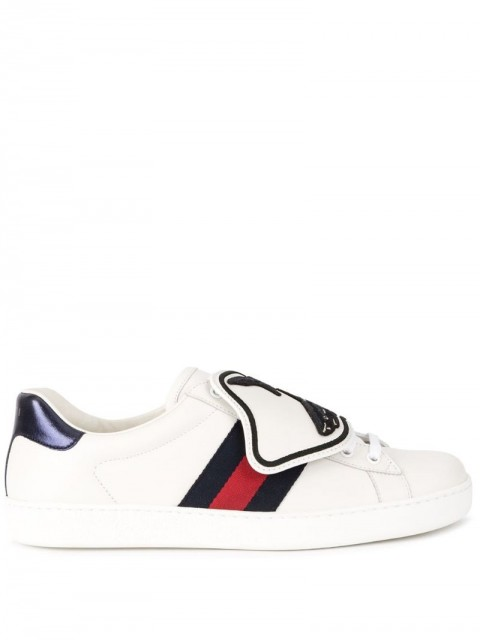 Gucci - Ace sneaker with removable patches - men - Rubber/Leather - 7 - White