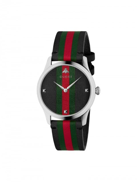 Gucci - G-Timeless watch, 38mm - men - Leather/Steel - One Size - Black